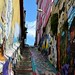 Colorful stairs, Valparaiso, Chile