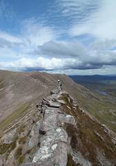 looking NE along the narrowest part of the ridge of Ben More Coigach (Francis Mansell) Tags: mountain scotland highlands scottishhighlands benmorecoigach coigach torridoniansandstone