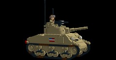 Sherman Tank_V2 (Florida Shoooter) Tags: usa lego armor ww2 ldd shermantank