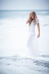 Emma (think2make) Tags: ocean california white beach canon model waves dress modeling bikini 5d encinitas markii emmaduty