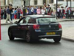 BMW 118d (kenjonbro) Tags: uk blue england westminster diesel rear trafalgarsquare bmw charingcross 2012 sw1 118d kenjonbro fujifilmfinepixhs10 fujihs10 lg12xgj