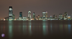 Jersey City view from Manhattan (Blue_gsx) Tags: new york city nyc tower night reflections freedom nikon long exposure time jersey wtc 1635mm d700