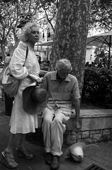 falling hats (streetwrk.com) Tags: street people bw monochrome hat blackwhite spain hats streetphotography stranger palma baleares streetogs streetwrk