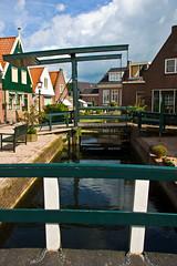 Volendam Lift Bridge (Gallery North) Tags: holland fishing pretty scenic bridges statues canals clogs volendam fishingvillageboats