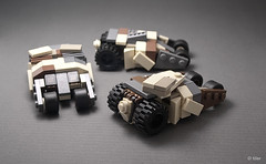 Batman  The Dark Knight Rises lego mini Tumblers / 01 (_Tiler) Tags: lego mini camo camouflage batman modified rocket dccomics batmobile armored turret launcher rocketlauncher batmanbegins moc tumbler thedarkknight miniscale thedarkknightrises tdkr
