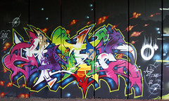 Monster nor Myth - Tamworth 12th (Low Tech) Tags: monster graffiti mural graf ltd myth spraycan livethedream neveralone ante bloodbrother artjamming