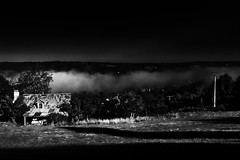 Sorceress' House (Islxndis) Tags: blackandwhite bw house mist france atmosphere dordogne valley mysterious atmospheric