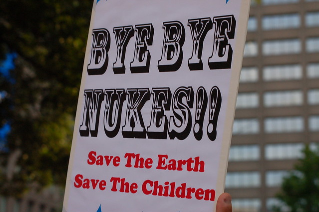 From flickr.com: Anti-nuke protesters surround Japanese parliament 7.29