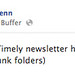 Chris Penn Facebook post alerting followers of email newsletter
