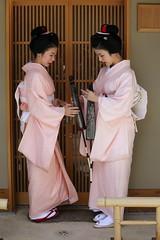 August 1 in Kyoto (Teruhide Tomori) Tags: portrait house japan lady kyoto traditional maiko parasol 京都 日本 kimono obi 着物 舞妓 日傘 花街 hassaku kagai 日本髪 八朔