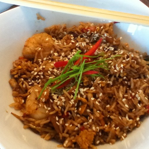 Wok stir fried seafood @ Coffee House