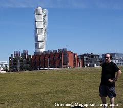 A side-trip to Sweden (Ron Hay) Tags: building sweden traveling twisted malmo touristsites hsbturningtorso tallestresidentialbuildinginsweden