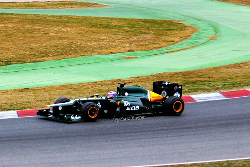 Vitaly Petrov in his Caterham F1 car in Formula One Winter Testing, Circuit de Catalunya, March 2012