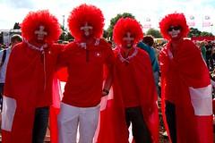 Disappointed Federer fans (Biker Jun) Tags: park london switzerland swiss hyde 2012 canonefs1755mmf28isusm canoneos7d