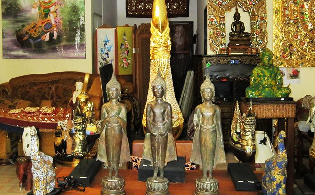 Some of Thailand traditional Buddha statues on display