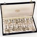 S16. Set of (12) Swedish Silver Tea Spoons