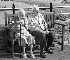 A Grand Day Out [Explored] (David Rothwell (rothwell172)) Tags: old friends holiday love bench pier lovers aged retired daytrip foreveryoung project365