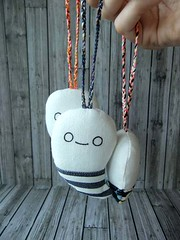 Ghostlets (bikbik & roro) Tags: cute halloween keychain craft plush softie ornament kawaii ghosts etsy homedecor bikbikandroro