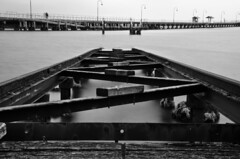 Tracks_into_water (RISKOV) Tags: white black water st train tracks nd kilda density neutral