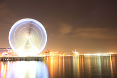 """The """"Great"""" Spin (Cmerchant1) Tags: seattle wheel washington waterfront great ferris"""