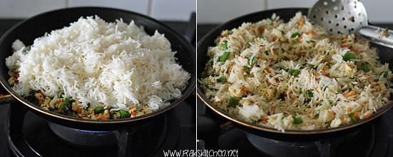 How to make paneer fried rice 5