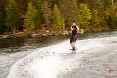 Wakeboarding on Trout Lake (Chaos2k) Tags: summer lake ontario canada motion water dof bokeh wakeboard trout 2012 northbay canon24105l canon5dmarkii brianboudreau mygearandme