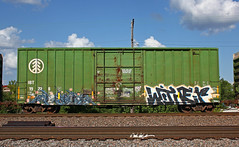 Timber Wither (The Braindead) Tags: art minnesota train bench photography graffiti interesting flickr timber painted tracks minneapolis twin rail wither explore most beyond the braindead mfk cites flickrs thebraindead