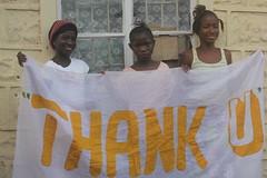 children19-18 (Develop Africa) Tags: children holding you banner thank