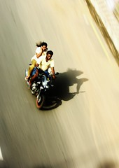 Freedom-Panning experiments 1 of 3 (seeveeaar) Tags: woman india 3 man motion blur bike speed plane freedom 1 experiments quite non chennai panning parallel speeding tamilnadu challenging dpspanning