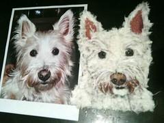 Chigirie Custom Pet Portratit - Willie (Robin Panzer Art Studio 33) Tags: original portrait rescue dog pet white art animal paper painted torn westy custom washi chigirie