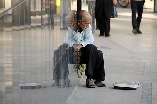 poverty street old man scale iran pavement beggar east sidewalk tehran middle weight watcher shahrdari iranmap iranmapcom tehexhib