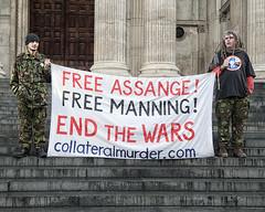 Collateral Murder (Gavin Ross) Tags: london julian war banner protest bradley murder collateral manning 2011 occupy assange
