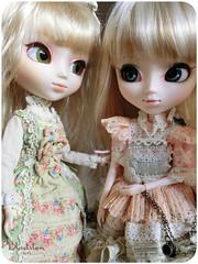 Lily and Nemorosa (Blodsten) Tags: world pink fashion japan doll lily alice innocent version company lolita planning romantic groove pullip pompadour jun vers nemorosa tiphona