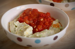 Courgette gnocchi with tomato sauce (communityharvestwhetstone) Tags: recipes
