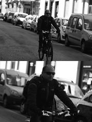 [La Mia Citt][Pedala] (Urca) Tags: milano italia 2016 bicicletta pedalare cicllista ritrattostradale portrait dittico nikondigitale mir bike bicycle biancoenero blackandwhite bn bw 881112