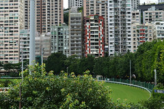 Happy Valley (austinjosa) Tags: hongkong happyvalley racecourse horseracing city urban architecture racetrack apartments flats density
