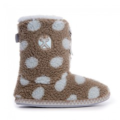 Leona - Polka Dot Short Sherpa Boots - Gingerbread / Volute (Bedroom Athletics) Tags: leona polka dot short sherpa boots gingerbread volute ankle athletics faux dusky fur fun fleece relax bedroomathletics new slippers bedroom womens by upper classic teddy lining grosgrain branded zip pull closure embroidered logo nonslip textile covered tpr sole decorative zigzag contrast stitch detail sidewall bed room loungwear clothing nightwear slipper british warm buy lovely lady woman warmth lush nice gift comfy cosy indoors chillout