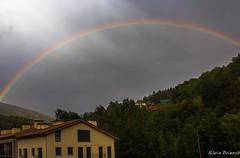 colors (nuri_bri) Tags: rainbow arcoiris arcdesantmart pirineos ripolles catalunya espaa spain es lluvia pluja rain
