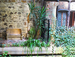A Place To Rest (Kris_wl) Tags: rest seat bench grass water wall stone stonewall gate quiet humid tropical