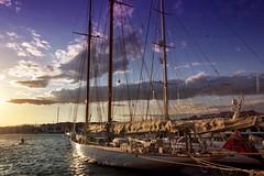 The wind chaser. f10; 1/200s; ISO 100; FL18mm.  Juan Manuel Saenz de Santa Mara, 2016 (Brenus) Tags: impresiones lensblr photographers tumblr original harbors boats sailboats sunset atardeceres mediterranean