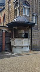 We preach Christ crucified (sarflondondunc) Tags: wepreachchristcrucified pulpit christchurch brixtonroad kennington lambeth london 1907