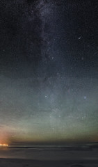 Milly Way (Walther Wer) Tags: milky way sea ocean bornholm balka strand stars night sterne nacht meer ostsee milchstrase galaxie panorama hugin