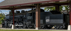 Locomotive Panorama (Nikon Telezoomer) Tags: 150600mmf563 9images adobelightroomcc2015 d7100 locomotive nikon panorama railroad sooline steamengine stevenspoint stitched tamron wisconsin wisconsincentral