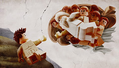 The Creation of Adam (Young's Lego) Tags: the creation adam lego legography photo photography michelangelo buonarroti