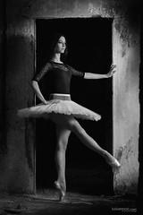 the DoLL (Ivan Peki - www.ivanpekic.com) Tags: balerina ballet ballerina girl dance dancer bw dark freeze performance woman beauty