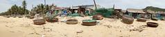 fishing village (kuuan) Tags: voigtlnder heliar manualfocus mf 15mm aspherical f4515mm bali ubud superwideheliar m39 ltm vietnam centralvietnam fishingboat fishingvillage beach panorama