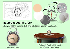 How a Xara Drawing works (foggyray90) Tags: alarmclock walnuttable vectordrawing diagram