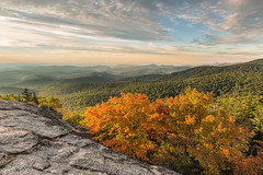 Beacon Heights 2016 (dlos') Tags: 2016 beaconheights boone fall sunrise foliage beaut mountains sun fallfoliage rock view blueridgemountains blueridgeparkway