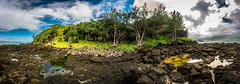 The island of Kauai : panorama (tibchris) Tags: panorama island kauai princeville hawaii lava palms travel travelphotography clouds outdoors landscape