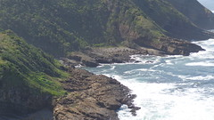View from The Gap (Rckr88) Tags: port st johns portstjohns viewfromthegap view from the gap easterncape eastern cape southafrica south africa sea water ocean coastline coast coastal rockycoastline rocks rock cliffs cliff waves wave beach green greenery travel outdoors nature